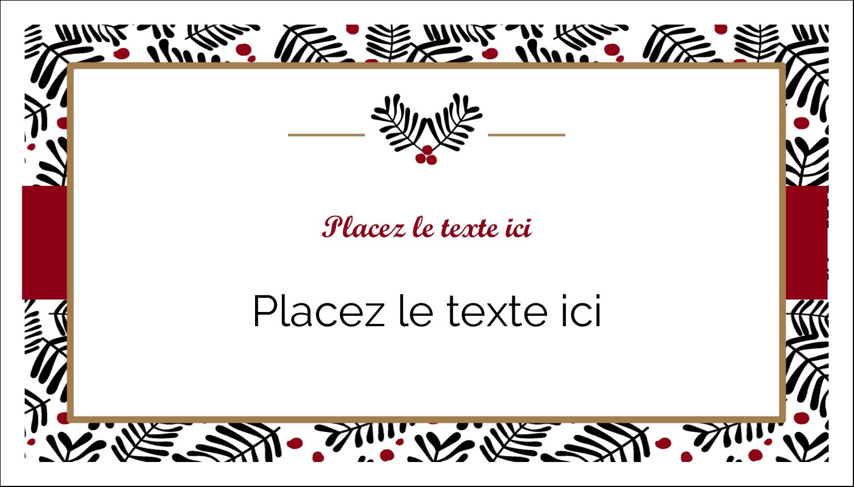 """2"""" x 3½"""" Carte d'affaire - Fleurs de Noël"""