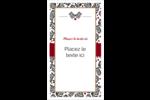 Fleurs de Noël Carte d'affaire - gabarit prédéfini. <br/>Utilisez notre logiciel Avery Design & Print Online pour personnaliser facilement la conception.