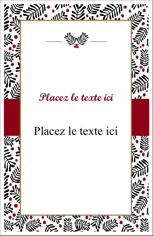 """8½"""" x 5"""" Cartes Et Articles D'Artisanat Imprimables - Fleurs de Noël"""