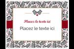 Fleurs de Noël Cartes Et Articles D'Artisanat Imprimables - gabarit prédéfini. <br/>Utilisez notre logiciel Avery Design & Print Online pour personnaliser facilement la conception.