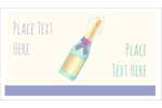 Add a sense of celebration to custom projects with pre-designed Champagne Bottle templates.