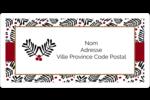 Fleurs de Noël Étiquettes de classement écologiques - gabarit prédéfini. <br/>Utilisez notre logiciel Avery Design & Print Online pour personnaliser facilement la conception.