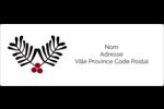 Fleurs de Noël Étiquettes d'adresse - gabarit prédéfini. <br/>Utilisez notre logiciel Avery Design & Print Online pour personnaliser facilement la conception.