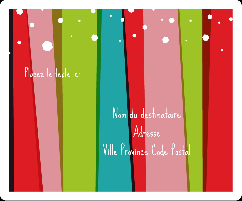 """½"""" x 1¾"""" Étiquettes D'Adresse - Rayures de Noël rétro"""