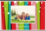 Rayures de Noël rétro Cartes de souhaits pliées en deux - gabarit prédéfini. <br/>Utilisez notre logiciel Avery Design & Print Online pour personnaliser facilement la conception.