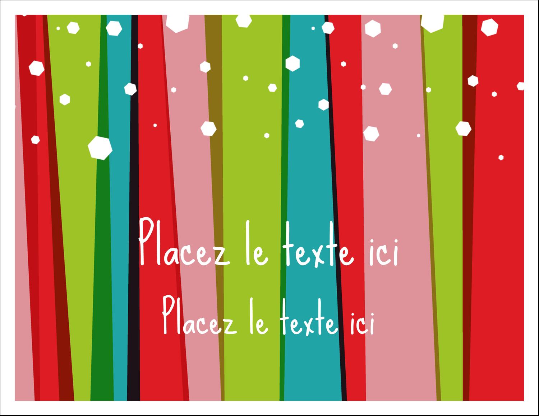 """8½"""" x 11"""" Cartes Et Articles D'Artisanat Imprimables - Rayures de Noël rétro"""