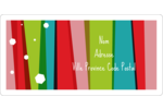 Rayures de Noël rétro Étiquettes de classement écologiques - gabarit prédéfini. <br/>Utilisez notre logiciel Avery Design & Print Online pour personnaliser facilement la conception.