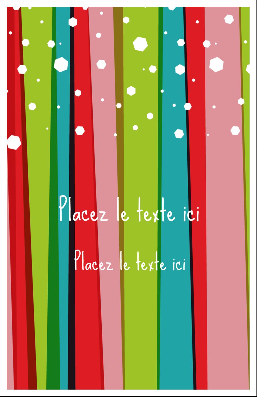 """8½"""" x 11"""" Binder Insert Reliures - Rayures de Noël rétro"""