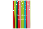 Rayures de Noël rétro Reliures - gabarit prédéfini. <br/>Utilisez notre logiciel Avery Design & Print Online pour personnaliser facilement la conception.