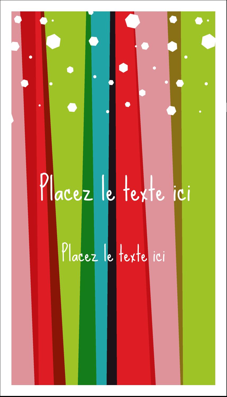"""2"""" x 3½"""" Carte d'affaire - Rayures de Noël rétro"""