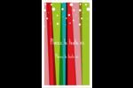 Rayures de Noël rétro Carte d'affaire - gabarit prédéfini. <br/>Utilisez notre logiciel Avery Design & Print Online pour personnaliser facilement la conception.