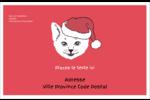 Chat de Noël Étiquettes d'expédition - gabarit prédéfini. <br/>Utilisez notre logiciel Avery Design & Print Online pour personnaliser facilement la conception.