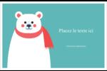 Ours polaire Cartes de souhaits pliées en deux - gabarit prédéfini. <br/>Utilisez notre logiciel Avery Design & Print Online pour personnaliser facilement la conception.