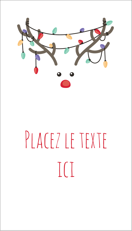 """2"""" x 3½"""" Carte d'affaire - Lumières sur panache de renne"""