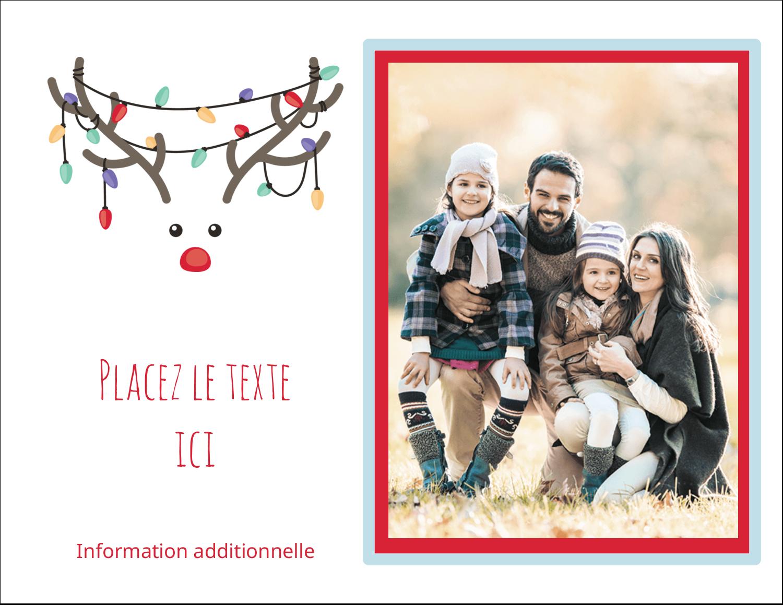 """8½"""" x 11"""" Cartes Et Articles D'Artisanat Imprimables - Lumières sur panache de renne"""