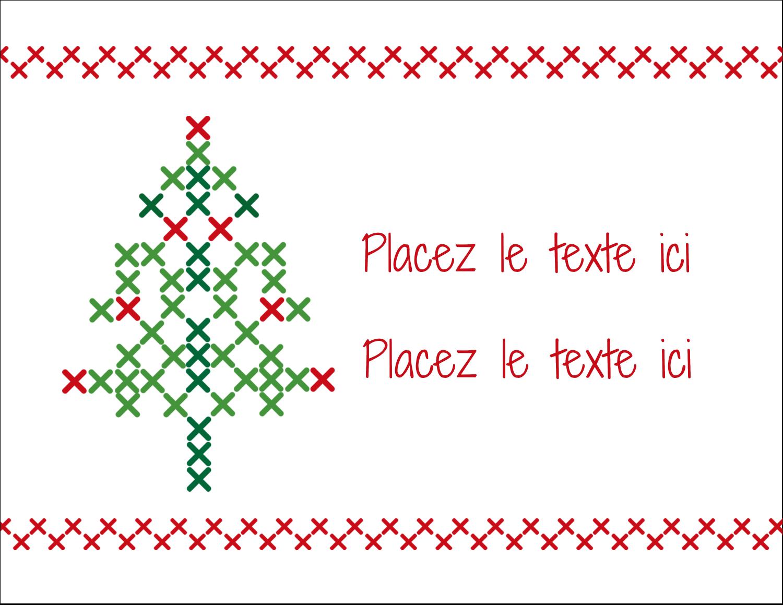 """8½"""" x 11"""" Cartes Et Articles D'Artisanat Imprimables - Sapin en point de croix"""