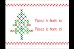 Sapin en point de croix Cartes Et Articles D'Artisanat Imprimables - gabarit prédéfini. <br/>Utilisez notre logiciel Avery Design & Print Online pour personnaliser facilement la conception.