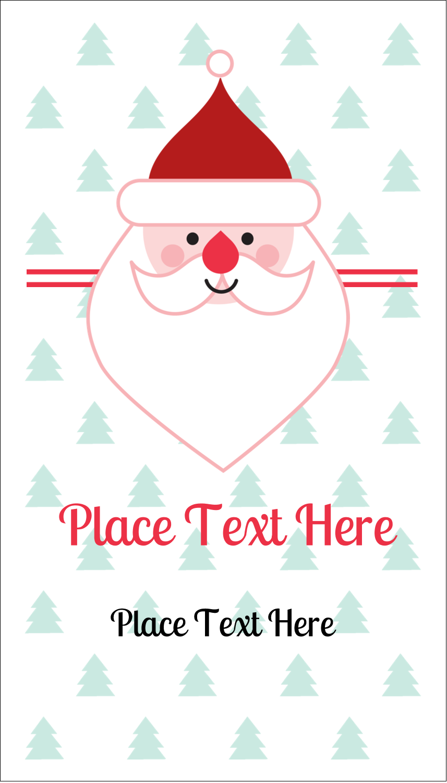 """3½"""" x 2"""" Business Card - Santa Claus"""