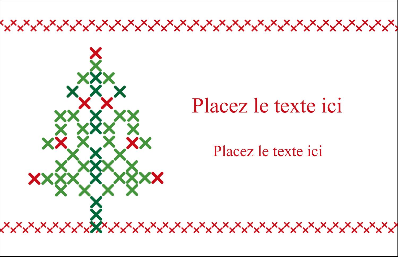 """5½"""" x 8½"""" Cartes de souhaits pliées en deux - Sapin en point de croix"""
