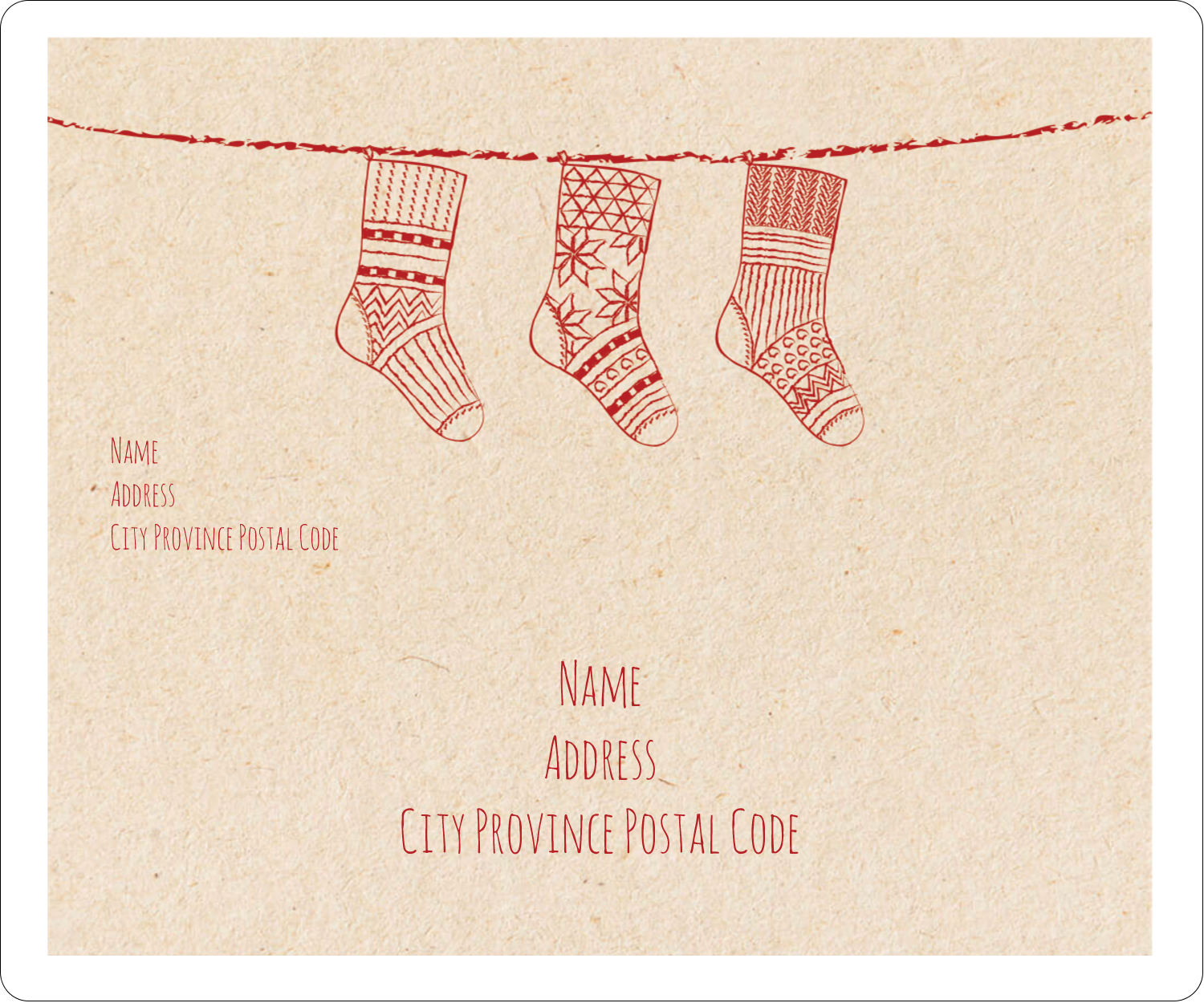 "3⅓"" x 4"" Shipping Label - Hanging Stockings"