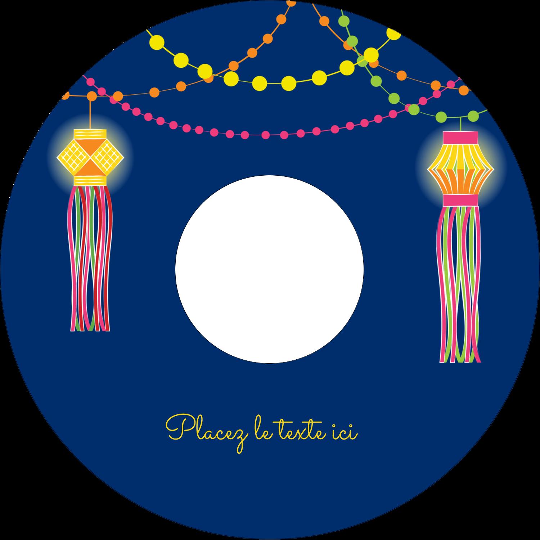 CD/DVD Étiquettes Pour Médias - Lanternes Divali