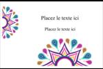 Ruban Divali Cartes de souhaits pliées en deux - gabarit prédéfini. <br/>Utilisez notre logiciel Avery Design & Print Online pour personnaliser facilement la conception.