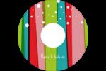 Rayures de Noël rétro Étiquettes Pour Médias - gabarit prédéfini. <br/>Utilisez notre logiciel Avery Design & Print Online pour personnaliser facilement la conception.