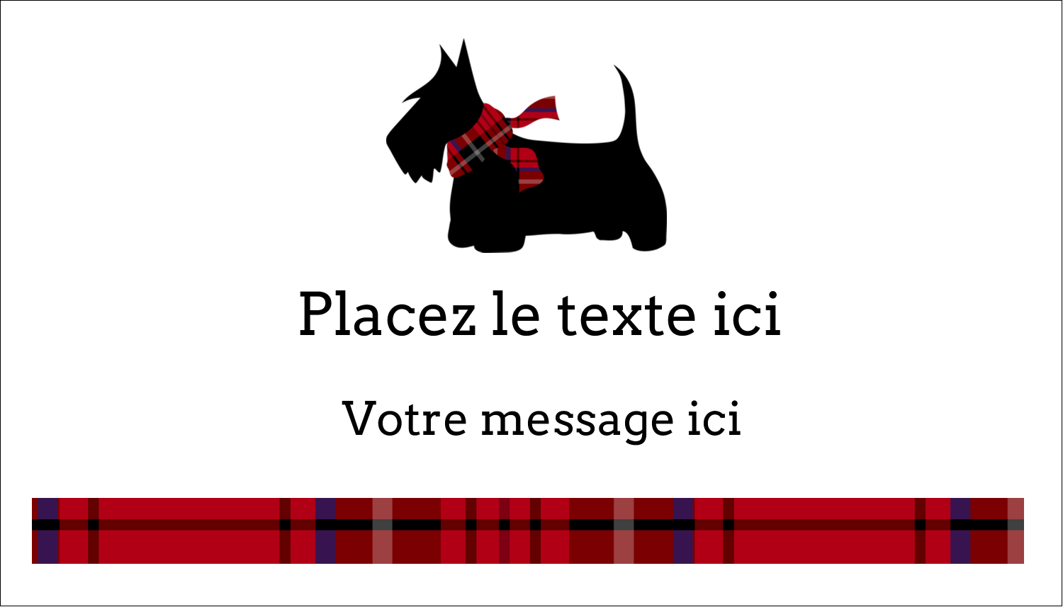 "2"" x 3½"" Carte d'affaire - Terrier écossais"