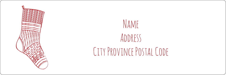 "1⅓"" x 4"" Address Label - Hanging Stockings"