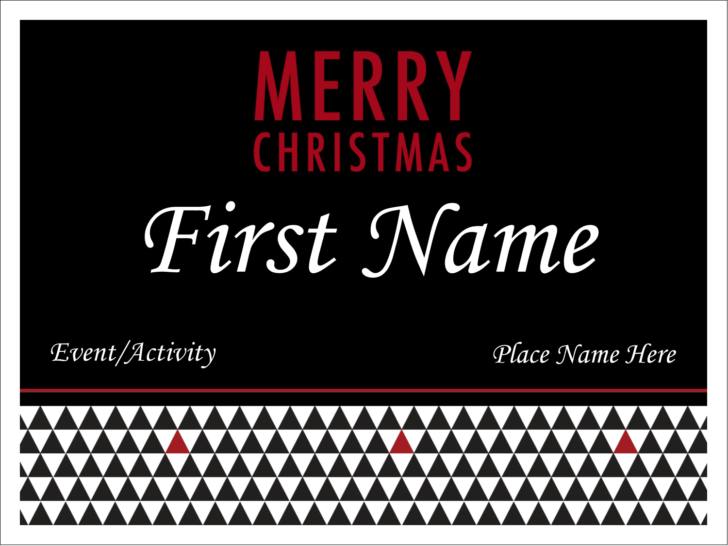 Add unique holiday style to custom projects with pre-designed Black and White templates.