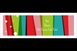 Rayures de Noël rétro Intercalaires / Onglets - gabarit prédéfini. <br/>Utilisez notre logiciel Avery Design & Print Online pour personnaliser facilement la conception.