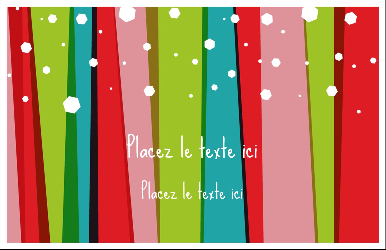"""5½"""" x 8½"""" Cartes de souhaits pliées en deux - Rayures de Noël rétro"""