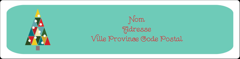 """1"""" x 4"""" Étiquettes D'Adresse - Sapin de Noël en kaléidoscope"""