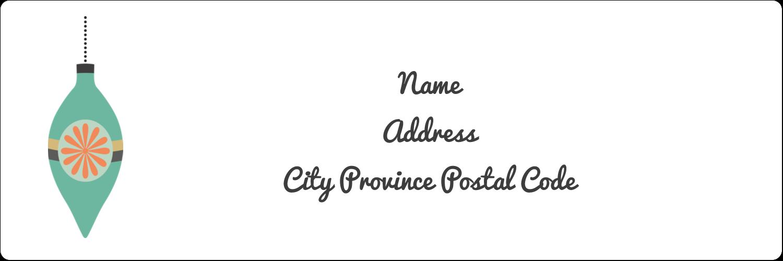 """1⅓"""" x 4"""" Address Label - Ornament Pattern"""