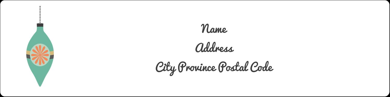 """1"""" x 4"""" Address Label - Ornament Pattern"""