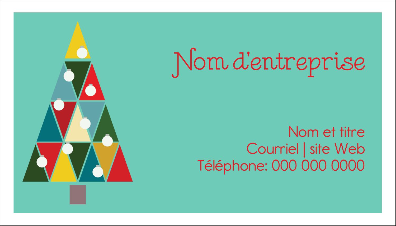 """2"""" x 3½"""" Cartes Pour Le Bureau - Sapin de Noël en kaléidoscope"""