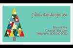 Sapin de Noël en kaléidoscope Cartes Pour Le Bureau - gabarit prédéfini. <br/>Utilisez notre logiciel Avery Design & Print Online pour personnaliser facilement la conception.
