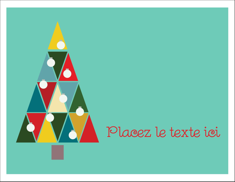 "4¼"" x 5½"" Cartes Et Articles D'Artisanat Imprimables - Sapin de Noël en kaléidoscope"