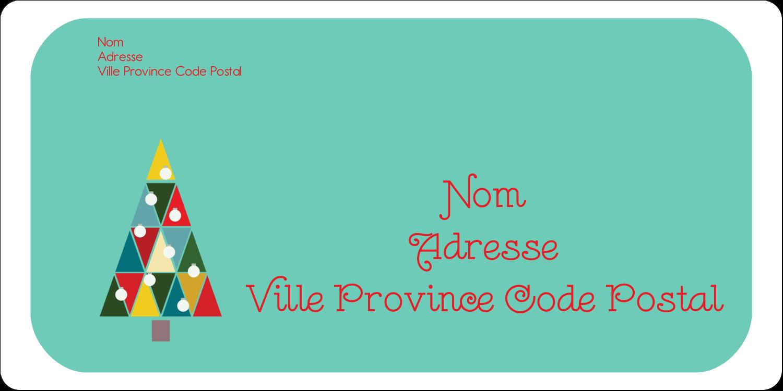 """2"""" x 4"""" Étiquettes d'expéditions - Sapin de Noël en kaléidoscope"""