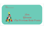 Sapin de Noël en kaléidoscope Étiquettes d'expéditions - gabarit prédéfini. <br/>Utilisez notre logiciel Avery Design & Print Online pour personnaliser facilement la conception.