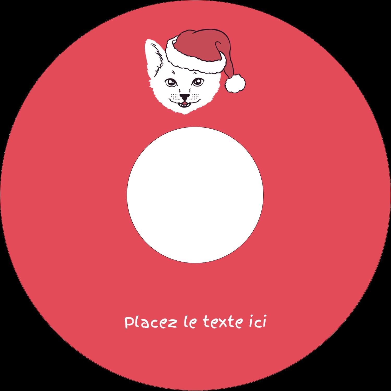 """⅔"""" x 3-7/16"""" Étiquettes de classement - Chat de Noël"""