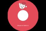 Chat de Noël Étiquettes de classement - gabarit prédéfini. <br/>Utilisez notre logiciel Avery Design & Print Online pour personnaliser facilement la conception.