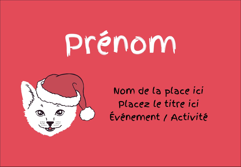 """3⅜"""" x 2⅓"""" Badges - Chat de Noël"""