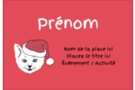 Chat de Noël Badges - gabarit prédéfini. <br/>Utilisez notre logiciel Avery Design & Print Online pour personnaliser facilement la conception.