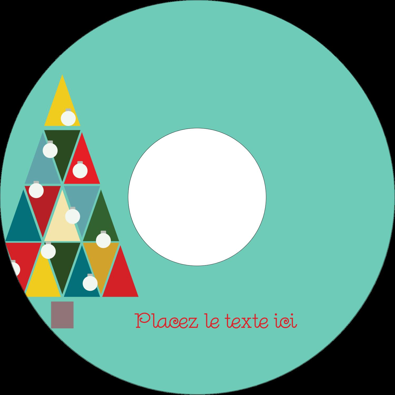 CD/DVD Étiquettes Pour Médias - Sapin de Noël en kaléidoscope
