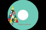 Sapin de Noël en kaléidoscope Étiquettes Pour Médias - gabarit prédéfini. <br/>Utilisez notre logiciel Avery Design & Print Online pour personnaliser facilement la conception.