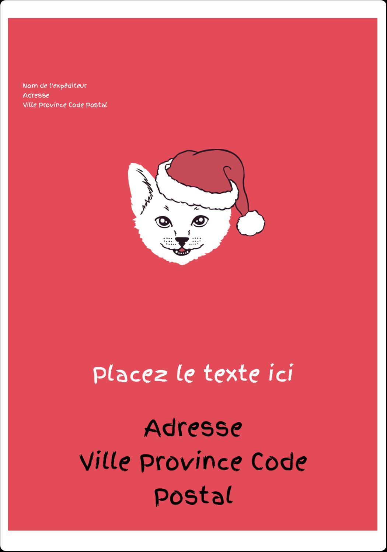 """⅔"""" x 1¾"""" Étiquettes D'Adresse - Chat de Noël"""