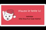 Chat de Noël Étiquettes de classement écologiques - gabarit prédéfini. <br/>Utilisez notre logiciel Avery Design & Print Online pour personnaliser facilement la conception.