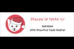 Chat de Noël Intercalaires / Onglets - gabarit prédéfini. <br/>Utilisez notre logiciel Avery Design & Print Online pour personnaliser facilement la conception.