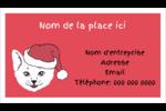 Chat de Noël Carte d'affaire - gabarit prédéfini. <br/>Utilisez notre logiciel Avery Design & Print Online pour personnaliser facilement la conception.